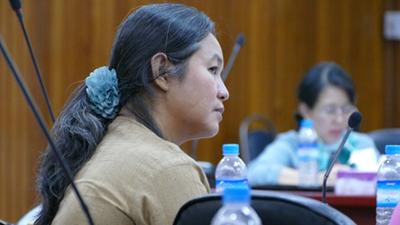 A DAAD alumni, Regional Minister Dr. Hla Myat Thway