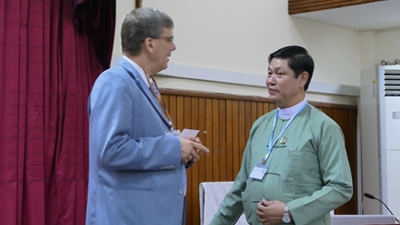 DAAD Regional Head, Mr. Stefan Hase-Bergen and Director General Dr. Nyi Nyi Kyaw from Forest Department